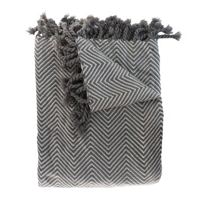 Trevorton Throw Blanket Color: Charcoal / Slate
