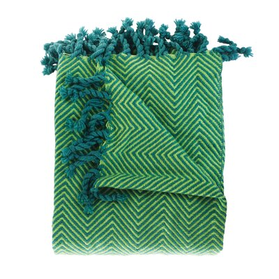 Trevorton Throw Blanket Color: Blue / Willow
