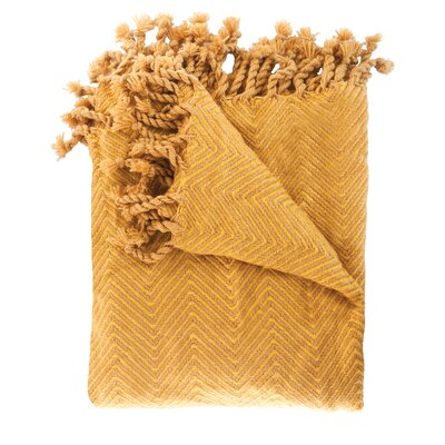 Trevorton Throw Blanket Color: Gold / Honey