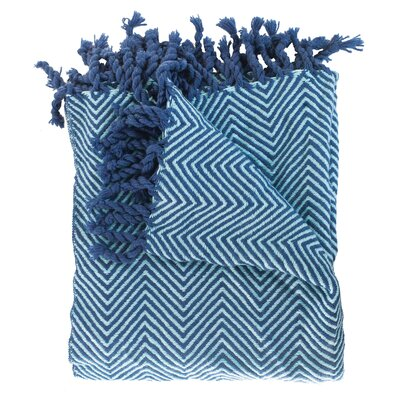 Trevorton Throw Blanket Color: Navy / Sky