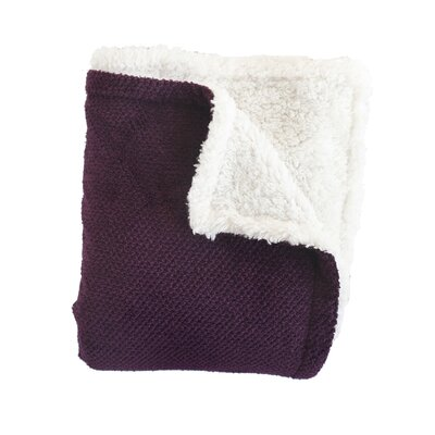 DuBois Throw Blanket Color: Purple