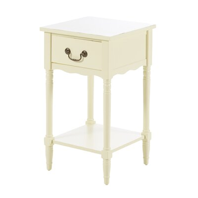 Taylorstown 1 Drawer Nightstand Finish: White