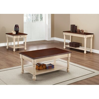 Classic Two Tone Coffee Table Set