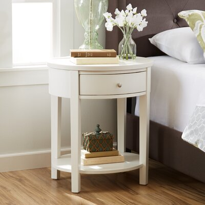 Canterbury End Table Finish: White
