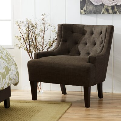 Barwood Tufted Accent Wingback Chair Upholstery: Dark Gray