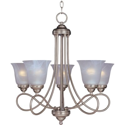Norwood 5-Light Shaded Chandelier Finish: Satin Nickel with Marble Shade