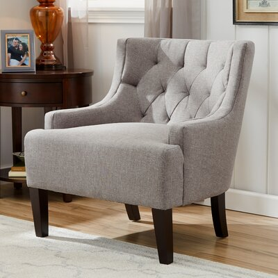 Barwood Tufted Accent Wingback Chair Upholstery: Gray