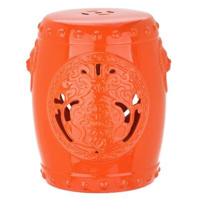 Callery Dragon Coin Garden Stool Color: Orange