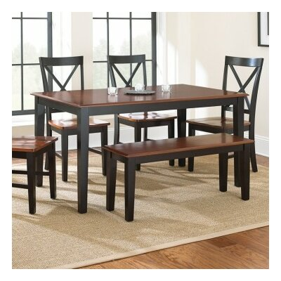 Greenside Solid Wood Dining Chair (Set of 2) Finish: Oak / Black