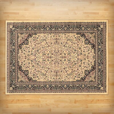 Traditional Area Rug in Ivory Rug Size: 5 x 7