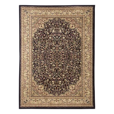 Elegance Black/Ivory Area Rug Rug Size: Rectangle 8 x 10