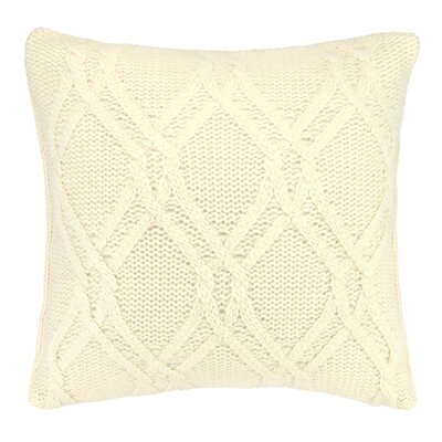 Newmanstown Cable Knit Throw Pillow Color: Ivory