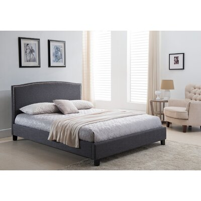 Avebury Queen Upholstered Platform Bed Color: Beige