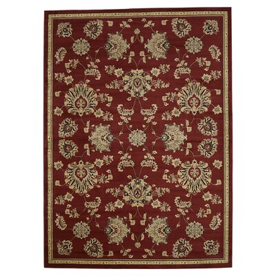 Brownville Red Area Rug Rug Size: Rectangle 33 x 53