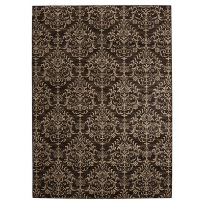 Lakeshore Dark Brown Area Rug Rug Size: 67 x 96