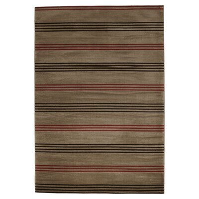 Pleasantville Light Brown Area Rug Rug Size: 33 x 53