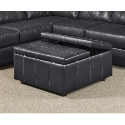 Serta Upholstery Williamsburg Storage Ottoman Color: Eastern Charcoal