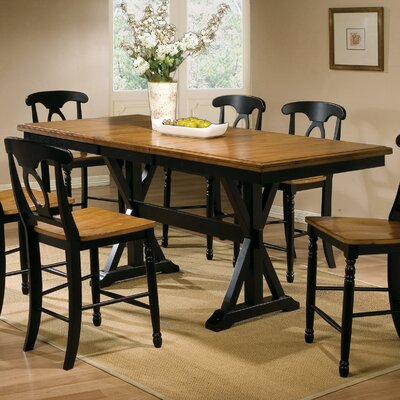 Courtdale Dining Table Finish: Almond / Ebony