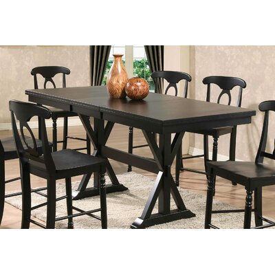 Courtdale Counter Height Dining Table Finish: Ebony