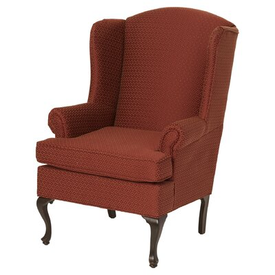 Palmdale Wingback Chair Upholstery: Red