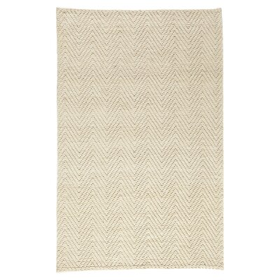 Honesdale Hand-Woven Ivory/Beige Area Rug Rug Size: 8 x 11
