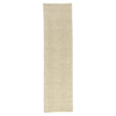 Honesdale Hand-Woven Ivory/Beige Area Rug Rug Size: Runner 2 x 76