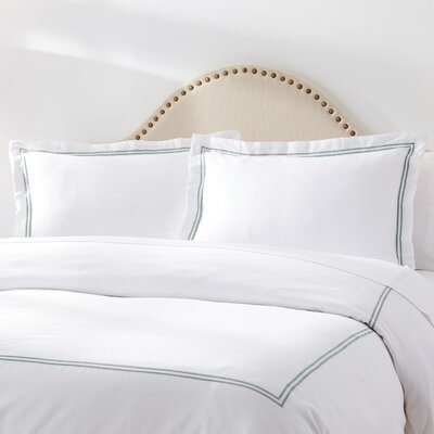 Meadow View Duvet Set Size: Queen, Color: Jade