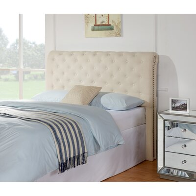 Starkes Upholstered Panel Headboard Size: Full / Queen