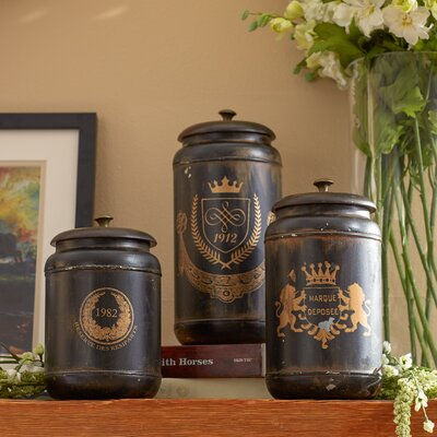 3-Piece Marquee Canister Set