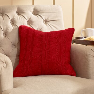 Davis Throw Pillow Color: Red