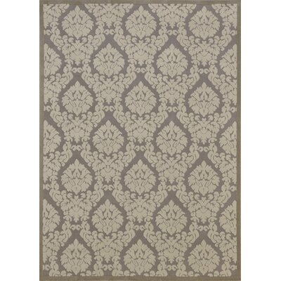 Weissport Silver & Ivory Area Rug Rug Size: Rectangle 76 x 96