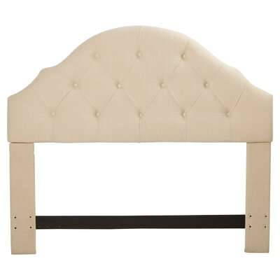 Joyce Upholstered Panel Headboard Size: King/California King, Upholstery: Linen