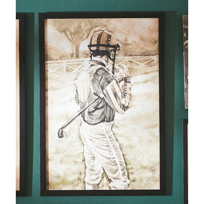 'The Jockey' Framed Painting Print on Wrapped Canvas Size: 36