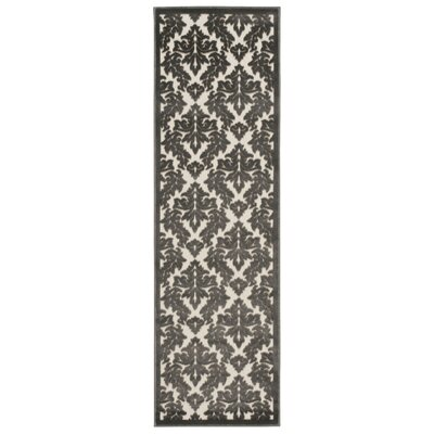 Weissport Ivory/Gray Area Rug Rug Size: Runner 22 x 7