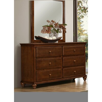 Allenport 6 Drawer Dresser with Mirror by Simmons Casegoods
