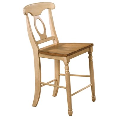 Courtdale 24 Bar Stool (Set of 2) Finish: Almond / Wheat