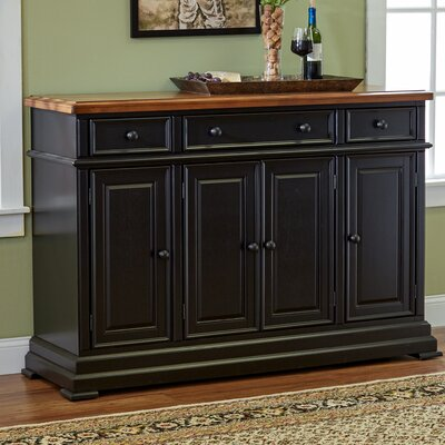 Courtdale Sideboard Color: Almond / Ebony