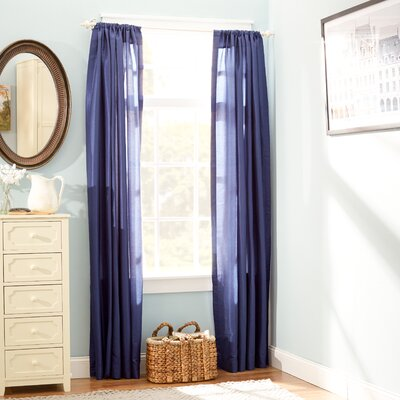 Lexie Solid Sheer Rod Pocket Curtain Panel Pair