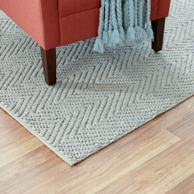 Honesdale Hand-Woven Gray Area Rug Rug Size: Runner 2 x 76