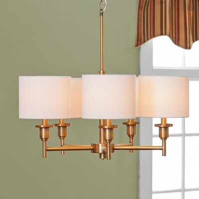 Avondale 5-Light Drum Chandelier Finish: Plated Brass