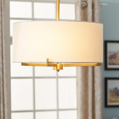 Avondale 3-Light Semi-Flush Mount Finish: Plated Brass