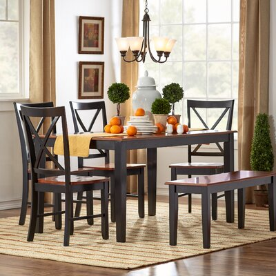 Greenside Dining Table Table Finish: Oak / Black