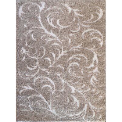 Cincinnatus Beige Floral Area Rug Rug Size: Rectangle 18 x 28