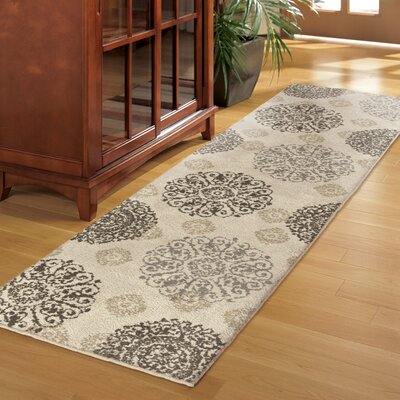 Ivory Area Rug Rug Size: 67 x 98