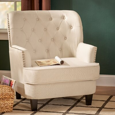Porter Tufted Armchair Upholstery: Ivory
