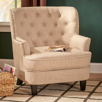 Porter Tufted Arm Chair Upholstery: Oatmeal