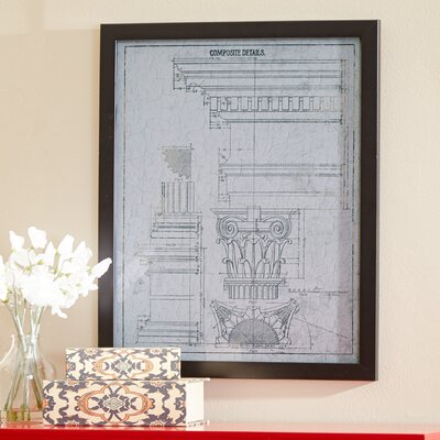 'Composite Details Vintage' Framed Graphic Art on Wrapped Canvas Size: 24