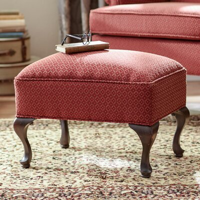 Palmdale Ottoman Upholstery: Red