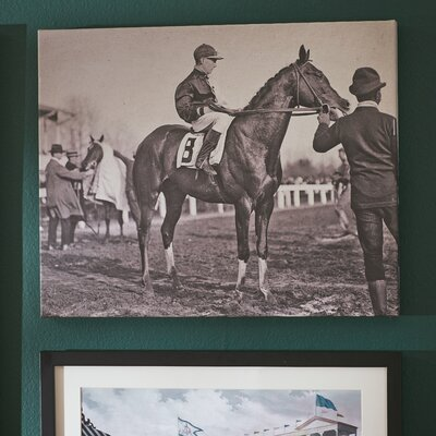 Vintage Jockey Photographic Print on Wrapped Canvas