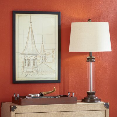 Two Steeples Graphic Art on Wrapped Canvas Size: 45